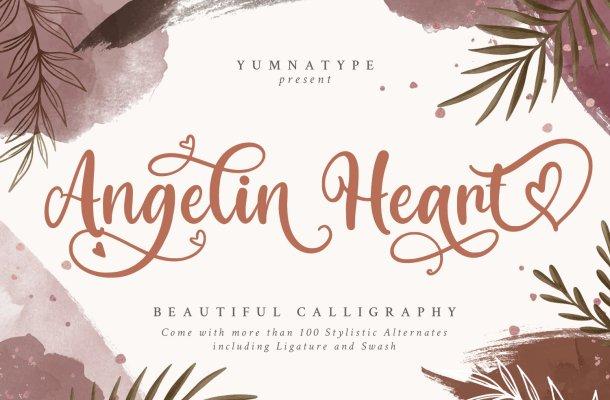 Angelin Heart Font