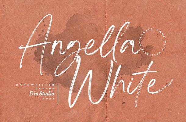 Angella-White-Font