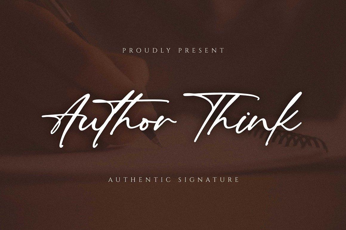 Author-Think-Font