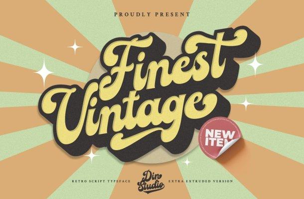 Finest-Vintage-Font