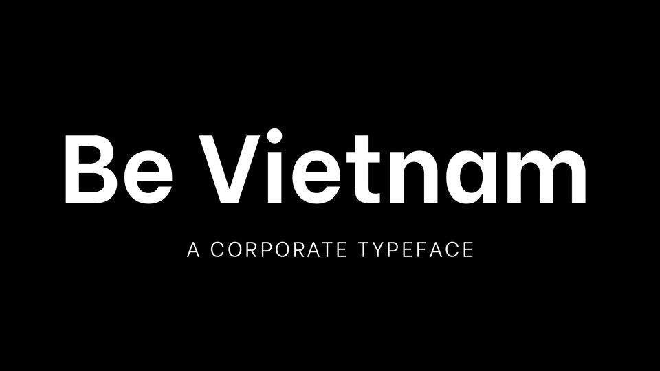 Be-Vietnam-Pro-Font