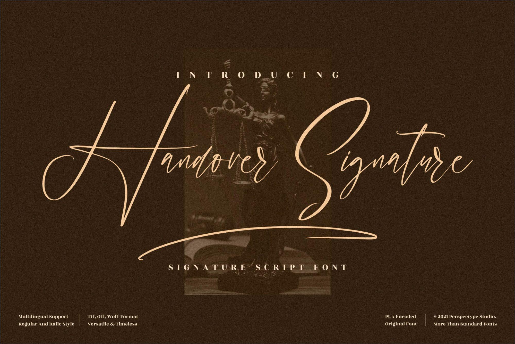 Handover-Signature-Font