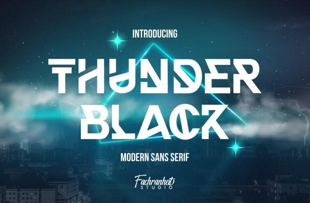 Thunder-Black-Font