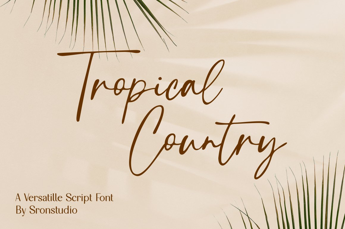 Tropical-Country-Font