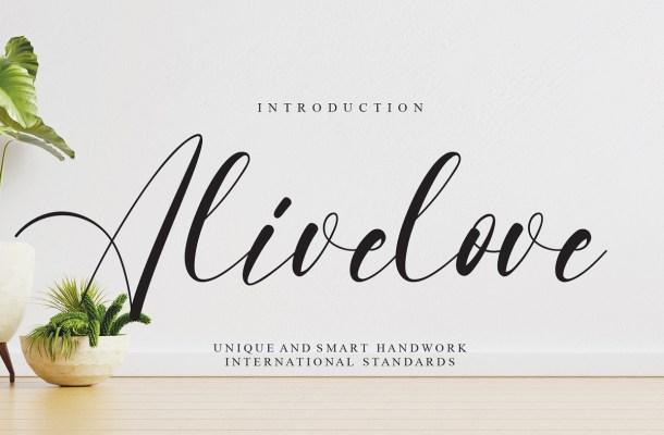 Alivelove Font