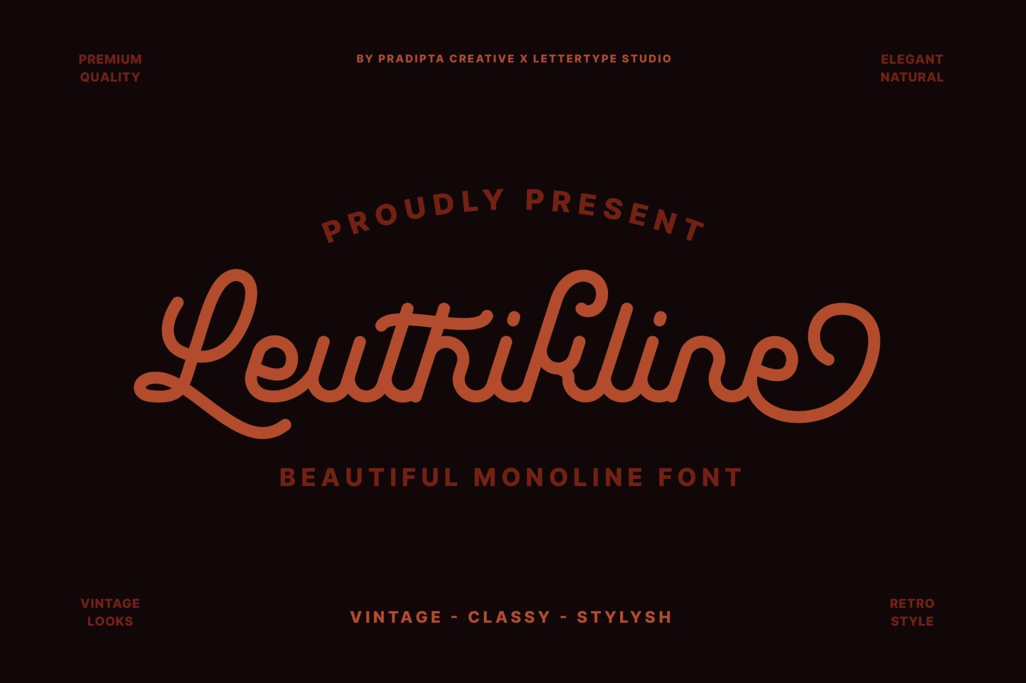 Leuthikline-Font