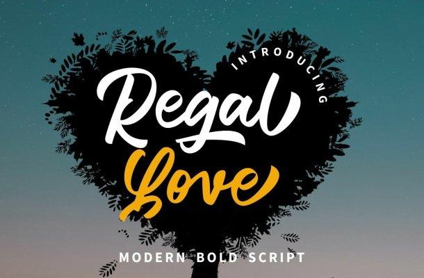 Regal Love Font