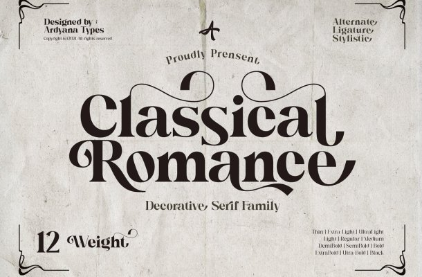 Classical Romance Font