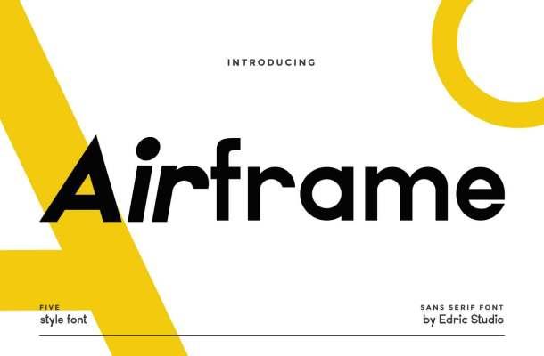 Airframe Font