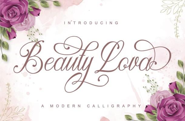 Beauty Lova Calligraphy Script Font