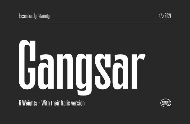 Gangsar Sans Serif Font