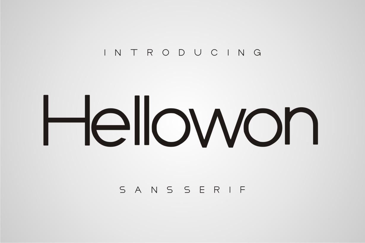 Hellowon-Font