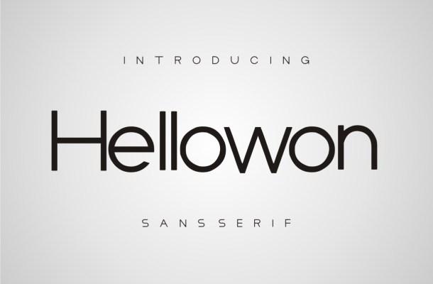 Hellowon Font