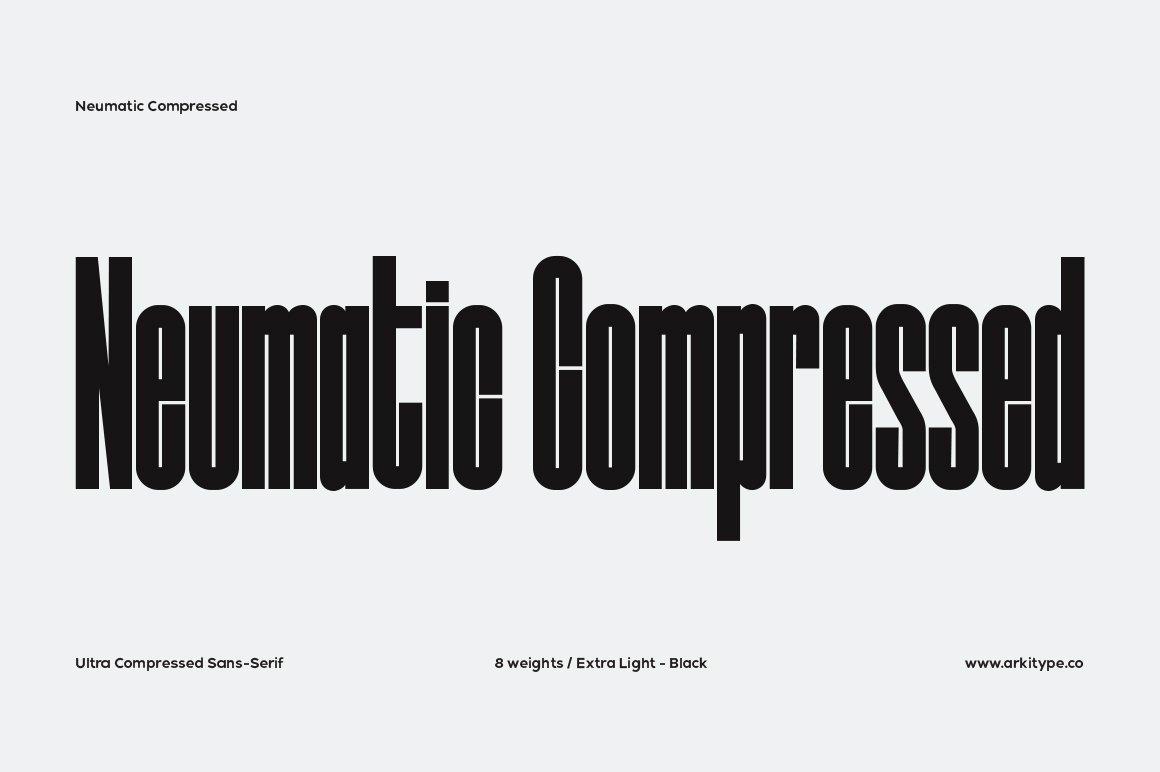 Neumatic-Compressed-Font