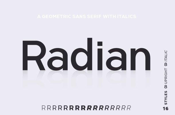 Radian Font Family
