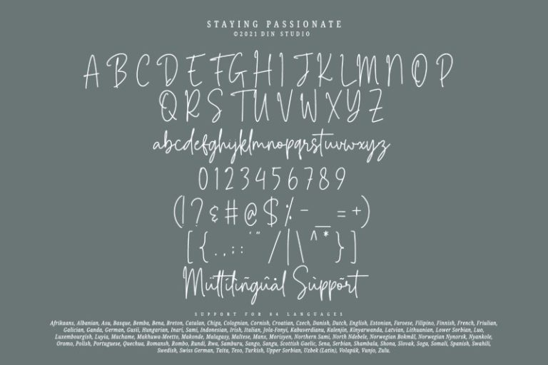 Staying-Passionate-Font-3