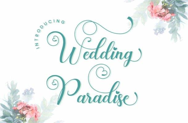 Wedding-Paradise-Font