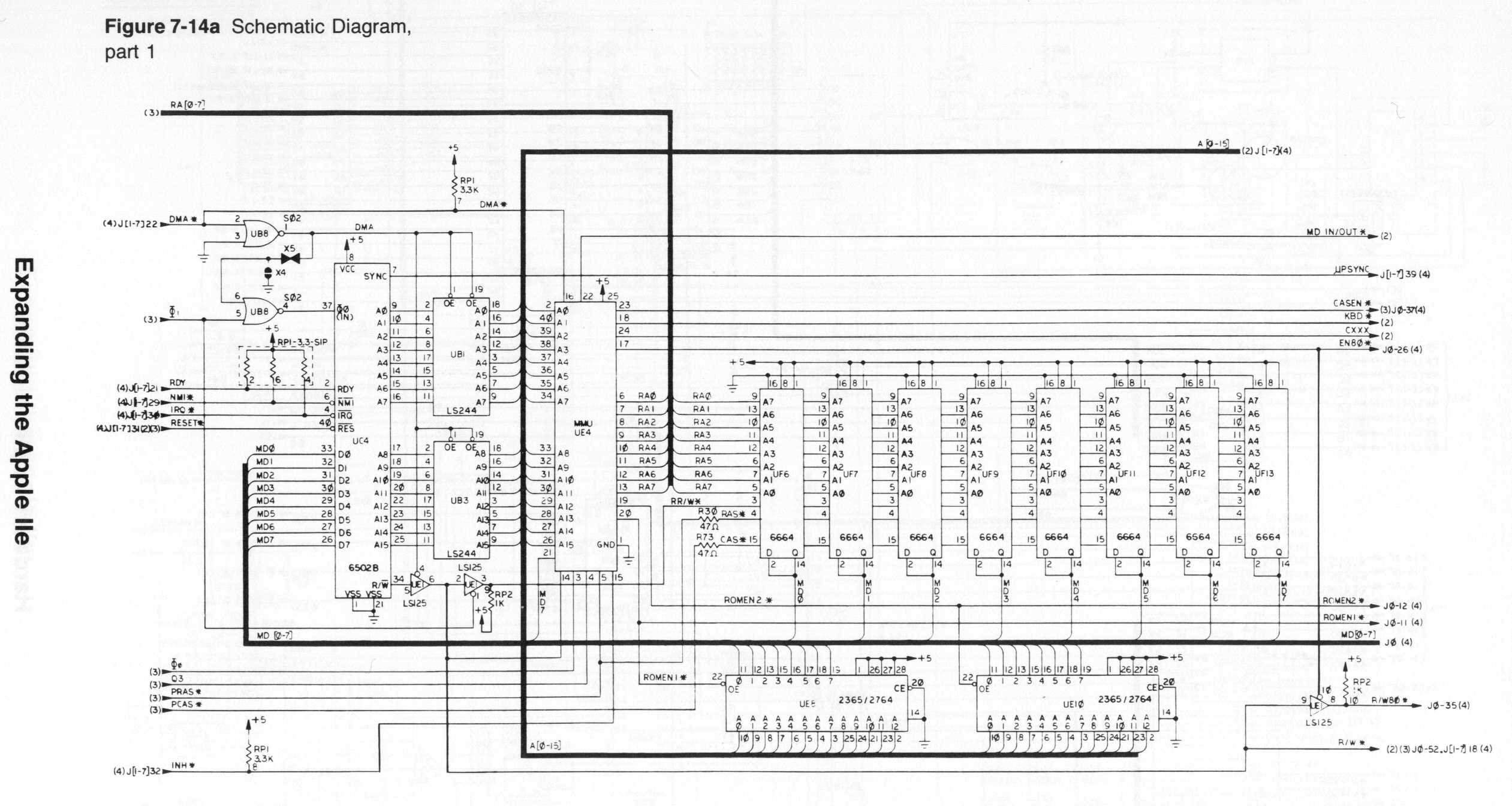 Index Of Apple Ii Items Hardware Iie Schematic