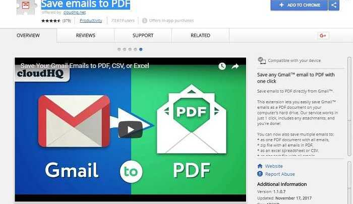 Photo of Download Save Emails to PDF 2019 Free Chrome Extension