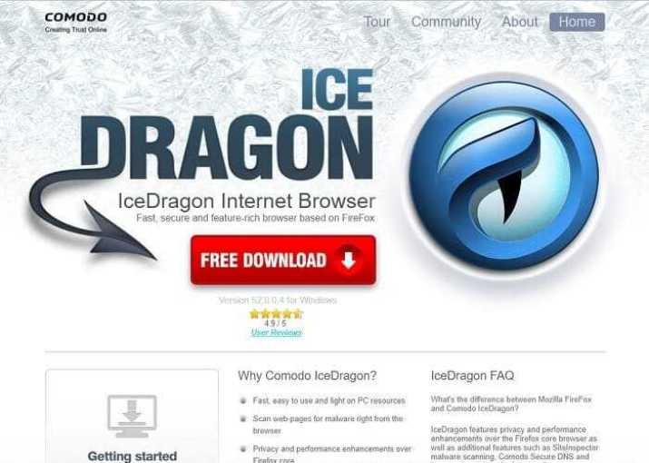 Descargar Comodo IceDragon Navegador Internet 2019 Gratis