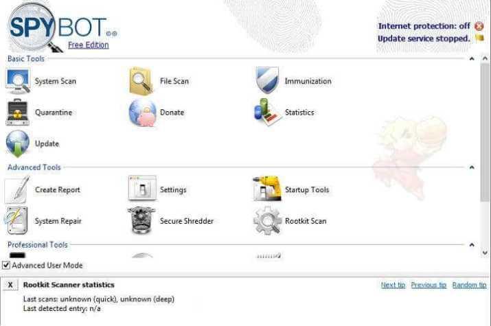تحميل Spybot – Search and Destroy مكافح برامج التجسس