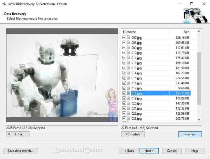 Descargar O & O DiskRecovery Recuperar Archivos Borrados