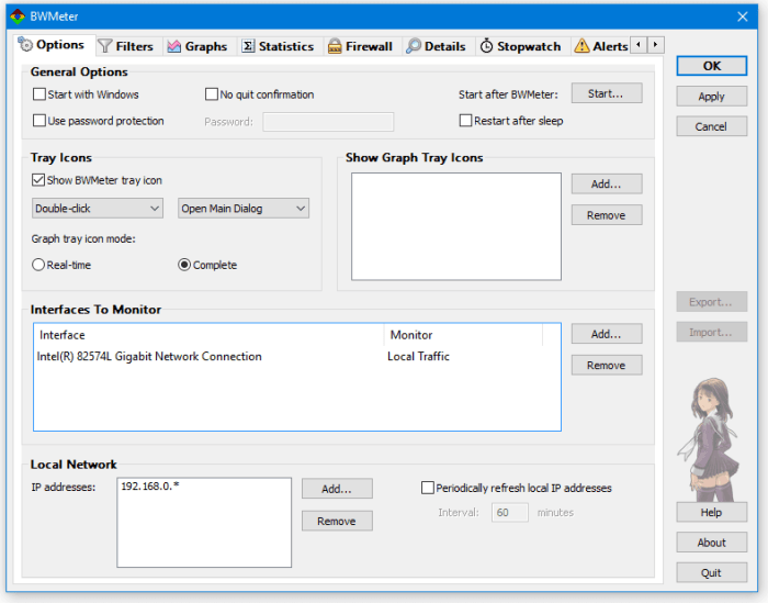 Download BWMeterFree Bandwidth Monitor & Traffic Controller