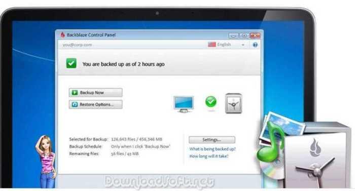Descargar Backblaze - Backup Cantidad