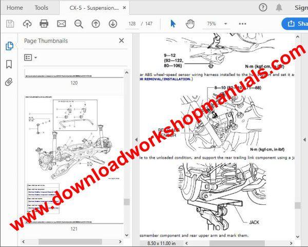 wiring diagram mazda 2014 cx5 cx5 factory service repair