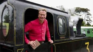 Michael Portillo on board No. 3 at Downpatrick