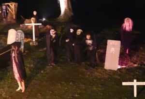 Spooky goings-on at the haunted graveyard