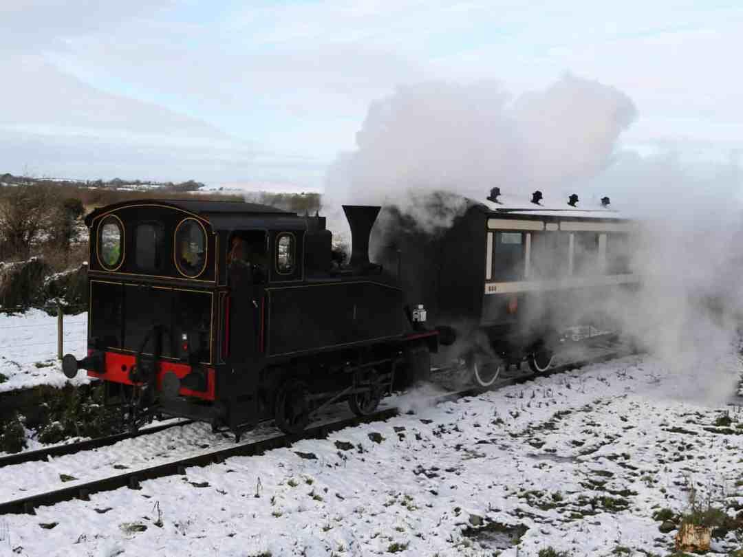 Santa's steam train - the Lapland Express