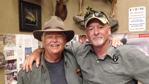 Michael Bane and Dave Spaulding at the FTW Ruger Event where the Ruger Mark IV was introduced.