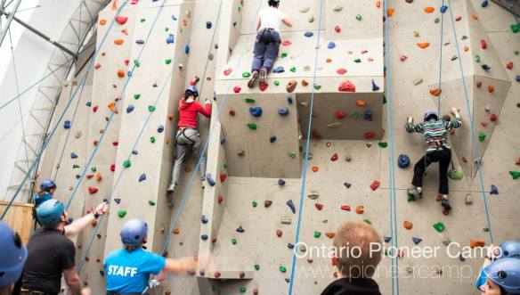 Image result for pioneer camp climbing wall