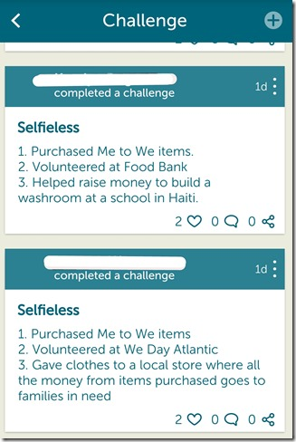 We365 App Review - @DownshiftingPRO #WeDay - SELFIELESS CHALLENGE 2