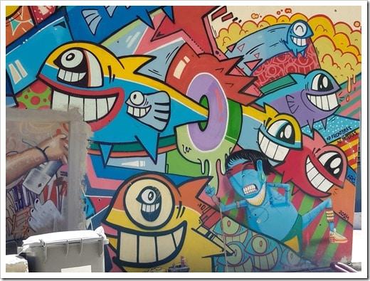 Grafitti Tour Barcelona @DownshiftingPRO_Smiling Fish