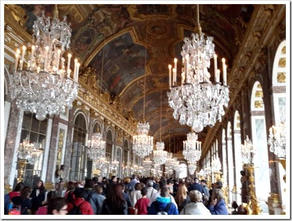 The Hall of Mirrors Versailles, France @DownshiftingPRO