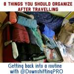 4 M– Eight Things You Should Organize After Travelling #Organizing #Travel