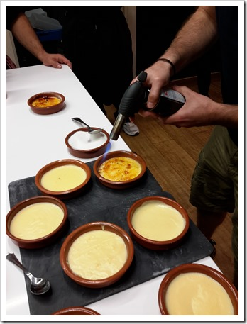Crema Catalan at bcnKitchen Spanish Cooking Class Barcelona Spain #TBEX