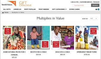 Meaningful Gift from World Vision Canada Gives Multiple times #MeaningfulGifts