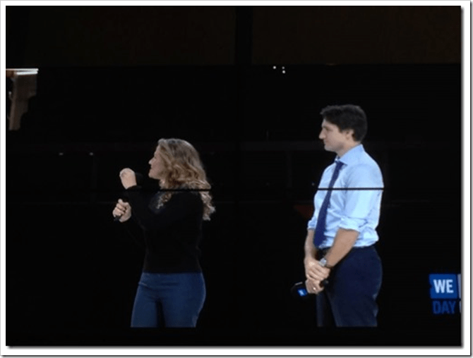 We Day - Ottawa - Sophie Grégroire-Trudeau, PM Trudeau Nov. 10, 2015 @DownshiftingPRO