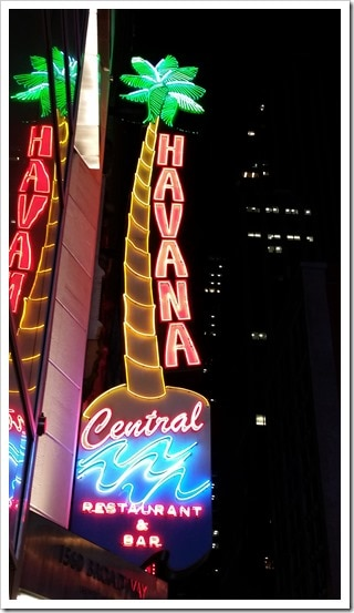 Havana Central Restaurant Review Time Square NYC @DownshiftingPRO_Sign1