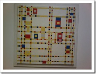 Broadway Boogie Woogie by Piet Mondrian in the MoMA in New York City