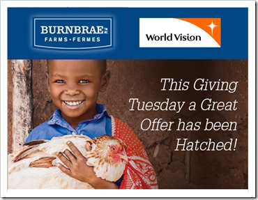 World Vision_Burnbrae Farms_Giving Tuesday_@DownshiftingPRO
