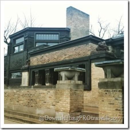 Frank Lloyd Wright Oak Park Homes@DownshiftingPROtravel©2017
