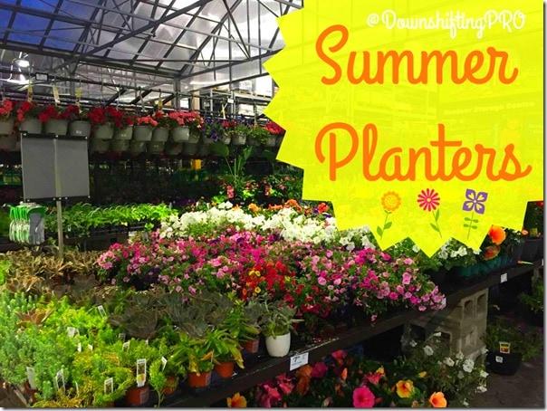 Summer Planters @DownshiftingPRO