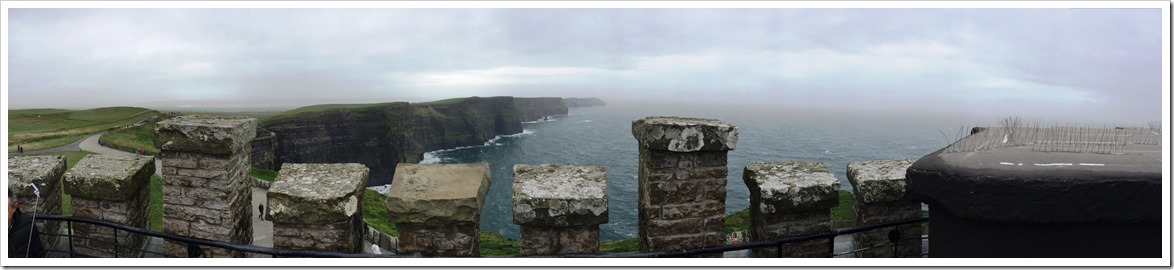 View from OBriens Tower at the Cliffs of Moher - Many Shades of Green in Ireland @DownshiftingPRO