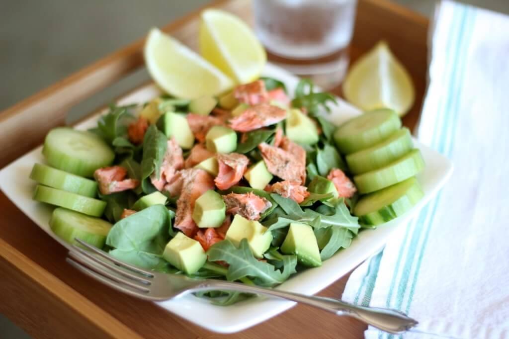 Salmon Avocado Salad | www.downshiftology.com