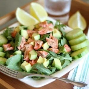 Salmon Avocado Salad | www.downshiftology.com