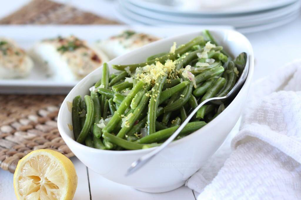 Green Beans with Shallots and Lemon | www.downshiftology.com